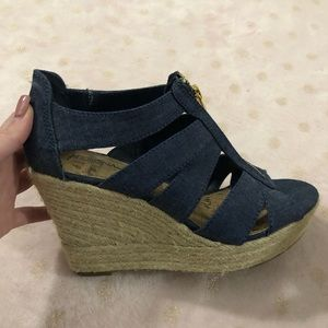 Blue jean wedges 7.5
